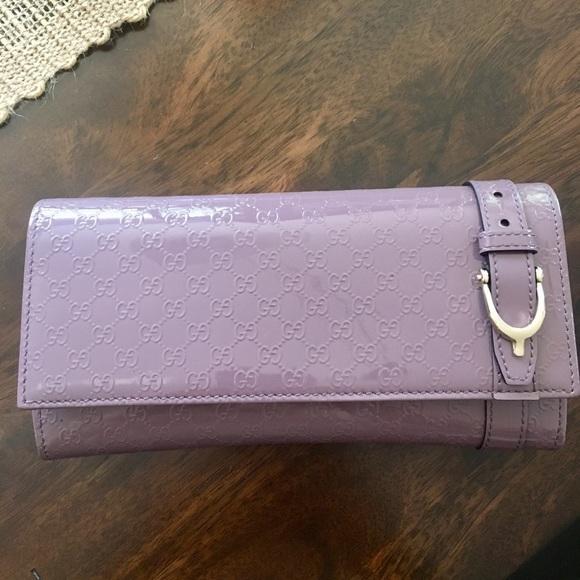 386dcbb6a448 Gucci Handbags - Gucci Guccissima Wallet Lilac